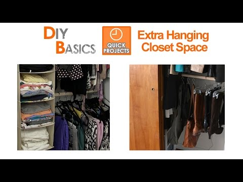 How to organize your closet with more hanging space - DIY Basics