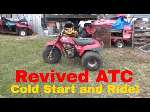 1985 Honda ATC 200S, Rescued ATV Cold Start and First Ride!
