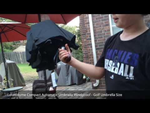 Automatic Umbrella with Compact Design and BIG coverage! Sturdy 8 rib design!