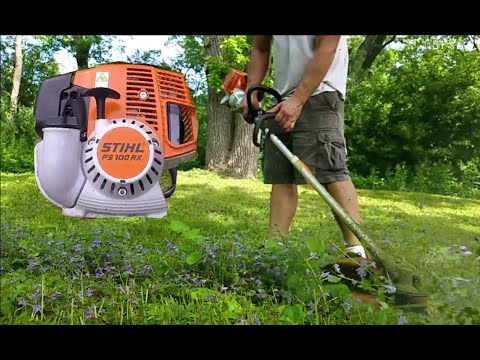FS 100 RX STIHL In ACTION and Review