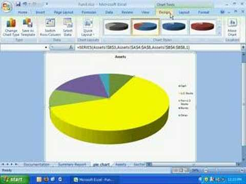 Excel 2007 Pie Chart