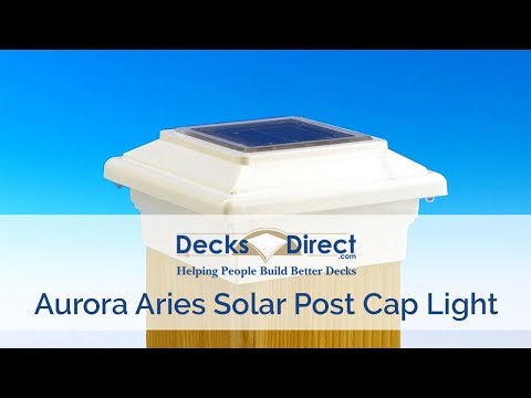 Aries Solar Post Cap Deck Light By Aurora Deck Lighting