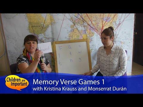Memory Verse Games 1