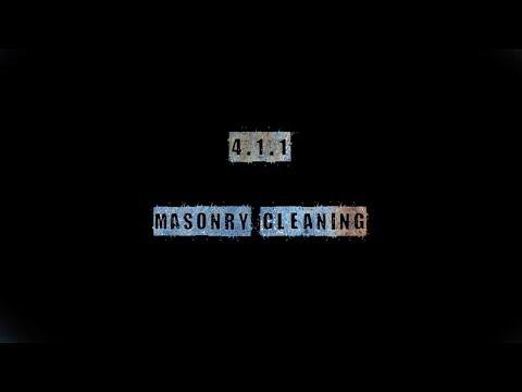 4.1 MASONRY Cleaning