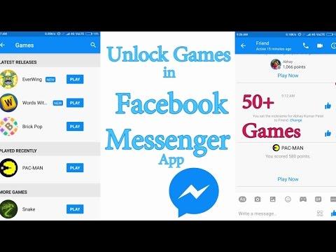 Facebook Messenger Games [50+ Games Unlock]