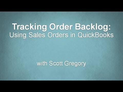 Tracking Open and Unfilled Customer Orders in QuickBooks