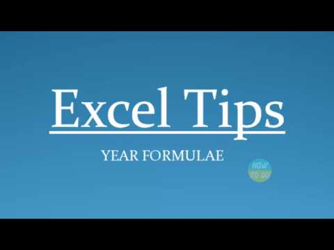 How to Use Year Formulae in Excel