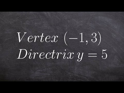 How to write the equation of a parabola given vertex and directrix