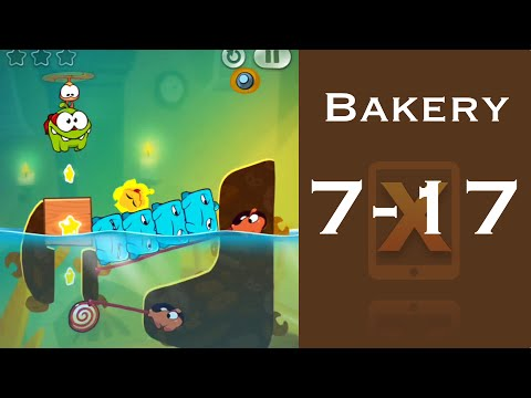 Cut the Rope 2 Walkthrough - Bakery 7-17 - 3 Stars + Medal