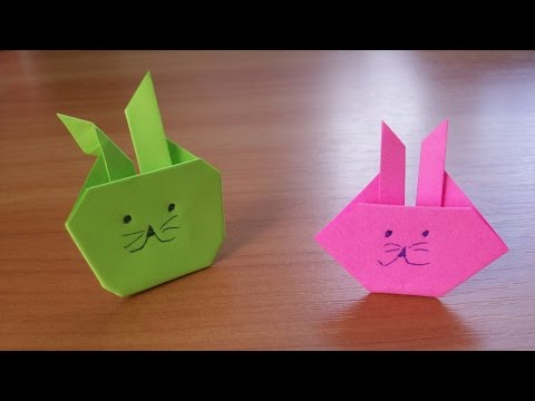 SUPER Easy Origami Bunny| Rabbit. Easter Paper Crafts For Kids No Glue No Scissors