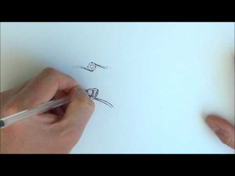 Diamond solitaire sketch video - from RING jewellers, Brighton