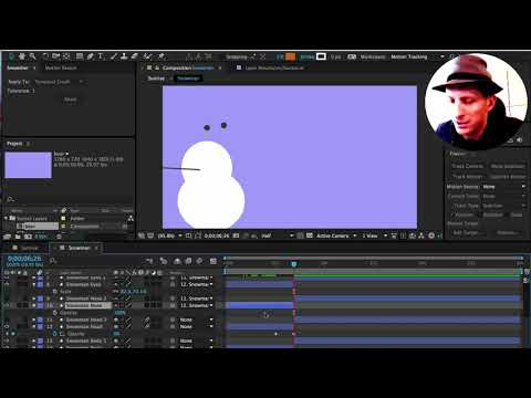 Snowman Melting in After Effects