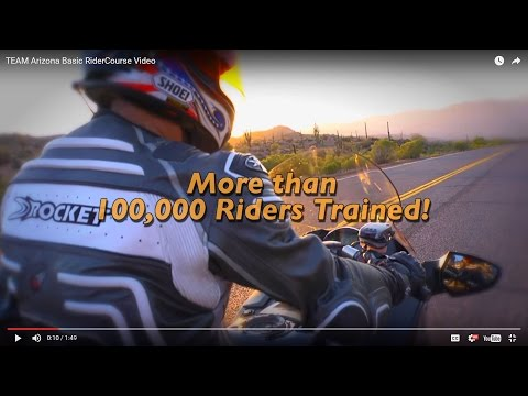 Basic RiderCourse Video -Get Your AZ Motorcycle License | TEAM Arizona Motorcyclist Training Centers