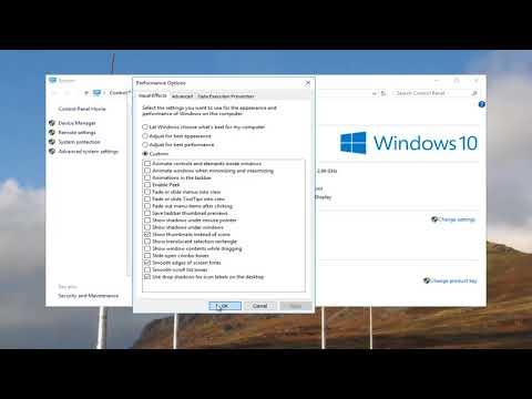 Windows 10 - Optimize Performance Using Virtual Memory