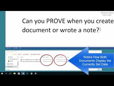 Fake a Date! Fake the file creation and even MetaData of a File in Windows