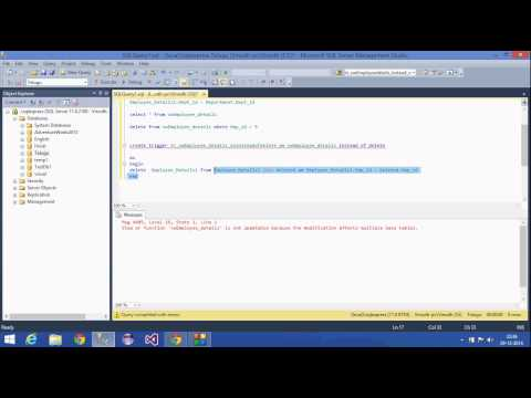 31.SQL Server Tutorial(DML instead of Delete trigger)