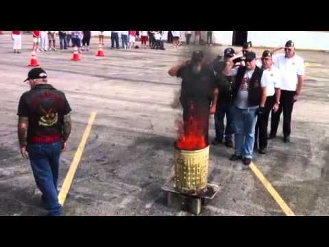 American Legion Post 101 flag burning ceremony