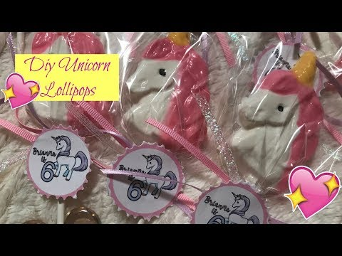 DIY Unicorn Lollipops Made With Chocolate Candy Melts