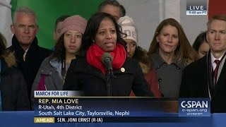 Rep. Mia Love (R-UT) full remarks at March for Life (C-SPAN)