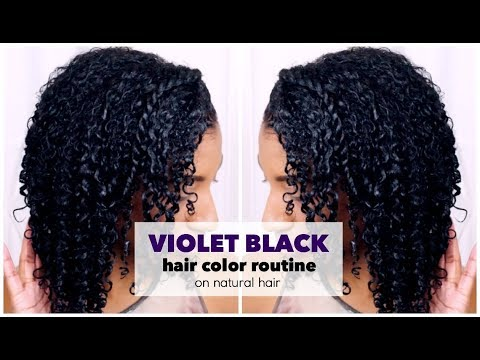 How to Dye Natural Hair Violet Black at Home w/ NO DAMAGE!