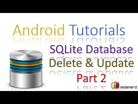 168 Android SQLite UPDATE and DELETE Part 2 |
