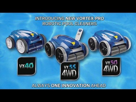 Zodiac VX40, Zodiac VX50 4WD and Zodiac VX55 4WD robotic cleaners.