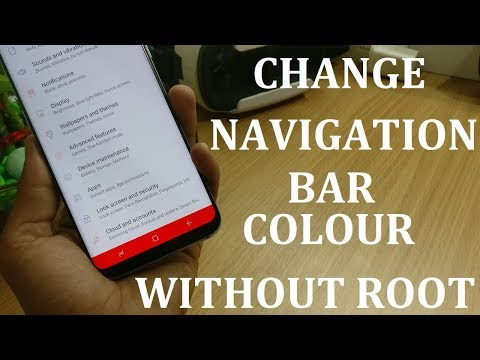 | SAMSUNG S8/S8+ |Manually Change navigation bar colour without ROOT |