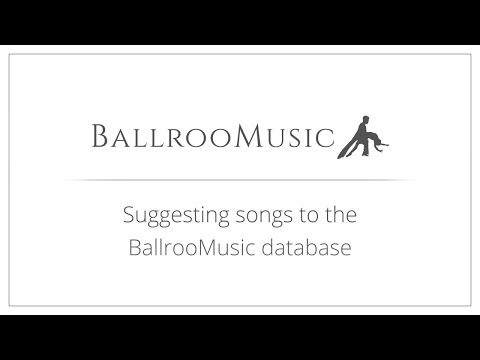 Suggesting songs to the BallrooMusic database