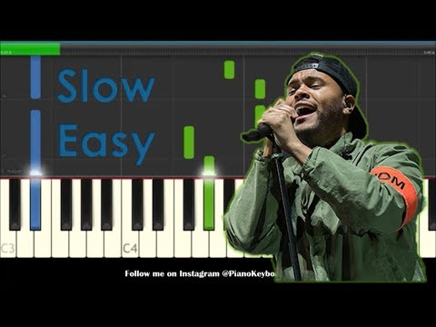 How to Play Call Out My Name by The Weeknd - Slow Easy Piano Tutorial