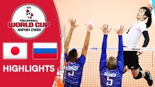 JAPAN vs. RUSSIA - Highlights | Men's Volleyball World Cup 2019