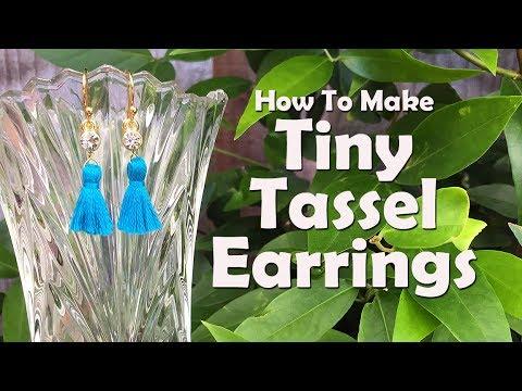 Tiny Tassel Earrings: Easy Jewelry Tutorial