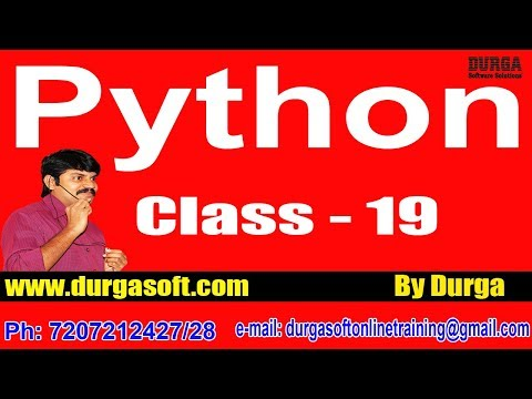 Learn Python Programming Tutorial Online Training by Durga Sir On 24-05-2018 @ 7AM