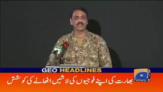 Geo Headlines 08 PM | Bharati Fouj Ne Sufed Jhanda Lehra Diya - ISPR | 20th October