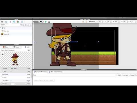 Cara membuat game platformer  di Gamesalad Ep 02 (menyiapkan karakter)