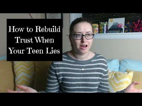 How to Rebuild Trust When Your Teen Lies
