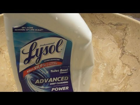 Lysol Professional Toilet Bowl Cleaner Advanced deep Cleaning REVIEW Does It Work