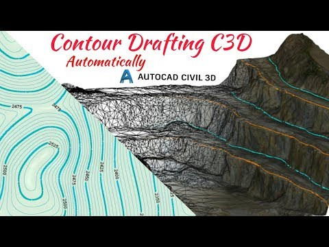 How to Draw Contour in Auto CAD Civil 3D