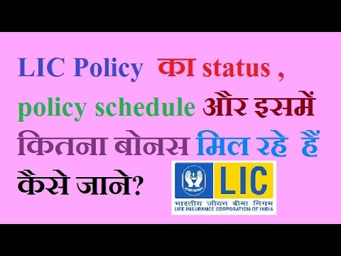 How to check LIC policy status vested bonus and policy schedule online?