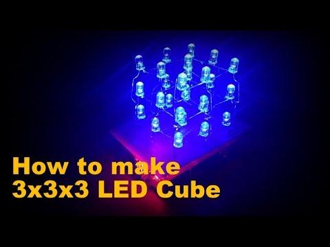 Arduino - Led cube 3x3x3 Tutorial