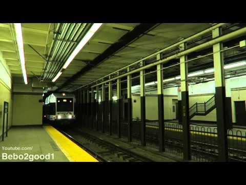 NJ Transit Newark City LRT (Subway) Train at Washington St (60FPS)