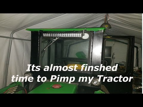 Tractor cab build luxury items installed