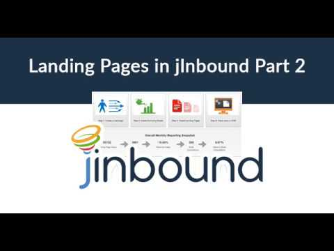 How to Create Landing Pages With jInbound, Part 2