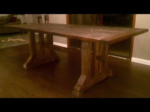 No Glue No Screw Timber Frame Table | the cliff notes
