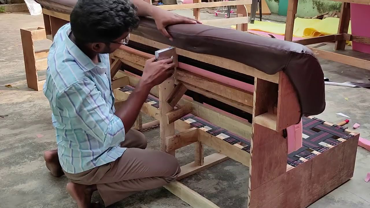 how to leather sofa making. best model sofa making. how to make sofa cushions. sofa making process