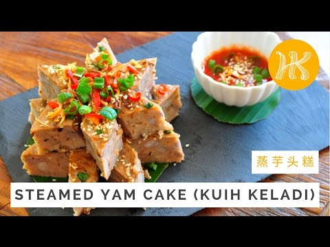Steamed Yam Cake Recipe (Kuih Keladi) 蒸芋头糕 | Huang Kitchen