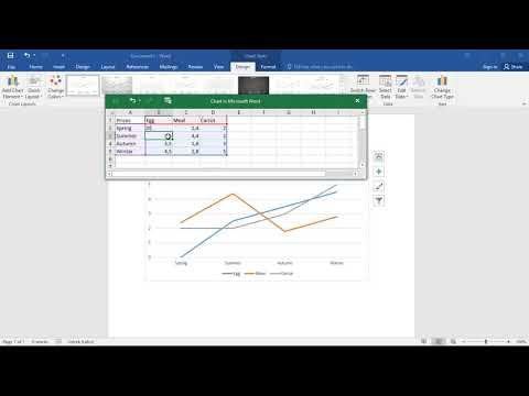 How to make line graphs in Word 2016