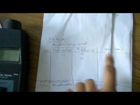 Speed control of DC shunt motor part-1