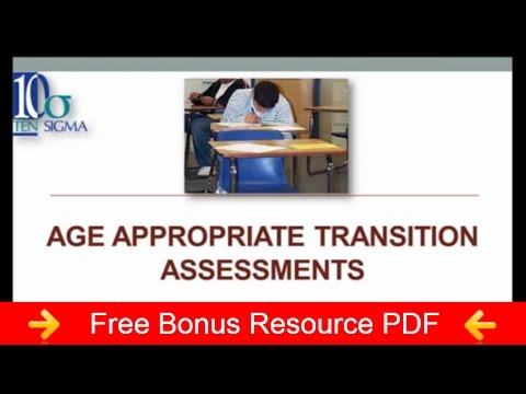 Age Appropriate Transition Assessments Episode 69 Transition Tuesday by Ten Sigma