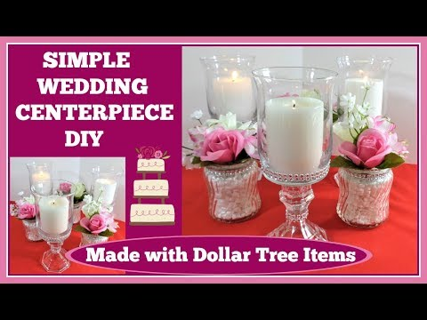 💍Wedding Centerpiece 💍Simple DIY with many options.
