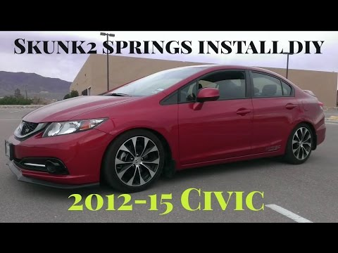 How To Install Skunk2 Lowering Springs 2013 Civic Si